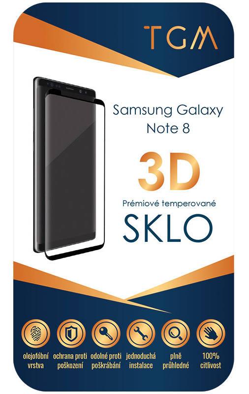 Ochranné sklo TGM 3D pro Samsung Galaxy Note 8 (TGM3DSGN8BK) čierne