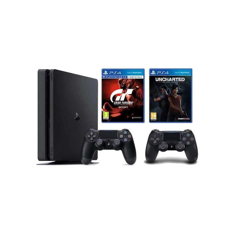 Herná konzola Sony PlayStation 4 SLIM 1TB + Gran Turismo Sport + Uncharted Lost Legacy + DS4 (PS719348870) + Doprava zadarmo