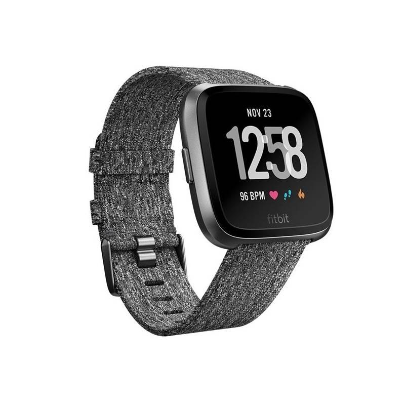 Chytré hodinky Fitbit Versa (NFC) - Charcoal Woven (FB505BKGY-EU)