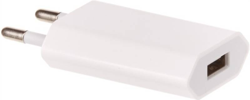Nabíjačka do siete OEM pro iPhone, iPod, výkon 1A/5W (BA2500008324132) biela