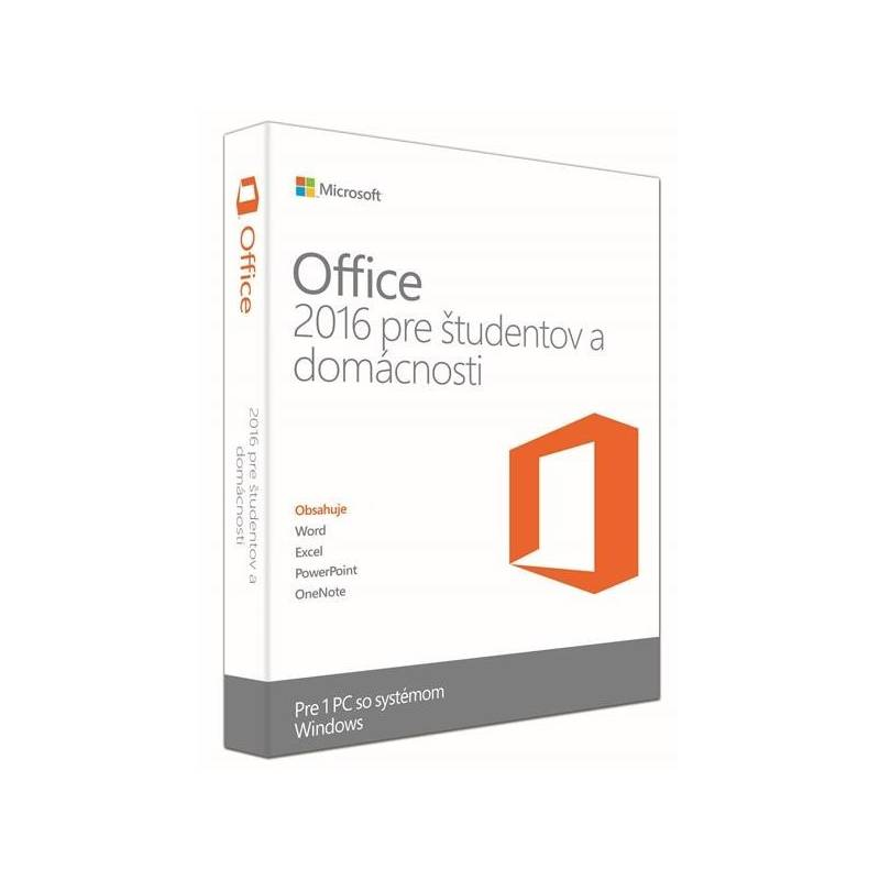 Software Microsoft Office 2016 SK Home and Student pre 1 PC (79G-04320)