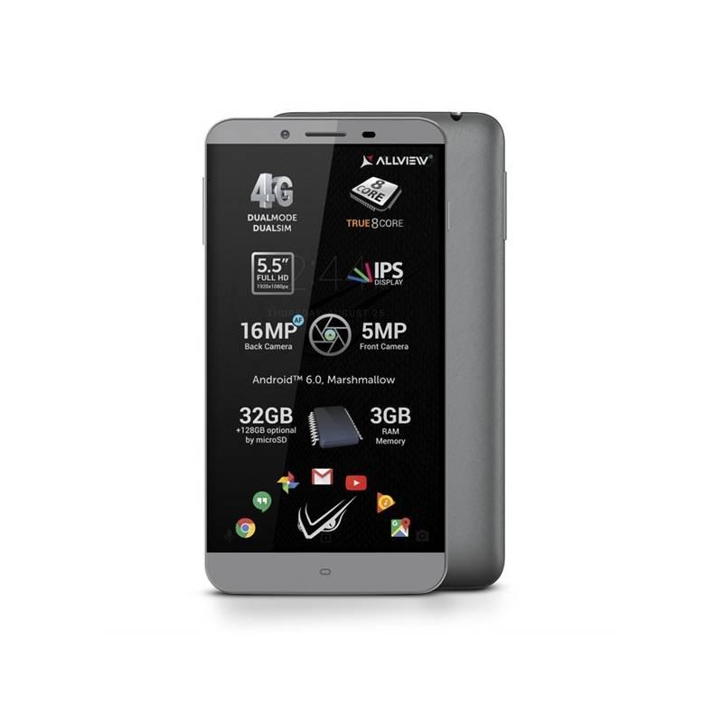 Mobilný telefón Allview V2 Viper S Dual SIM sivý