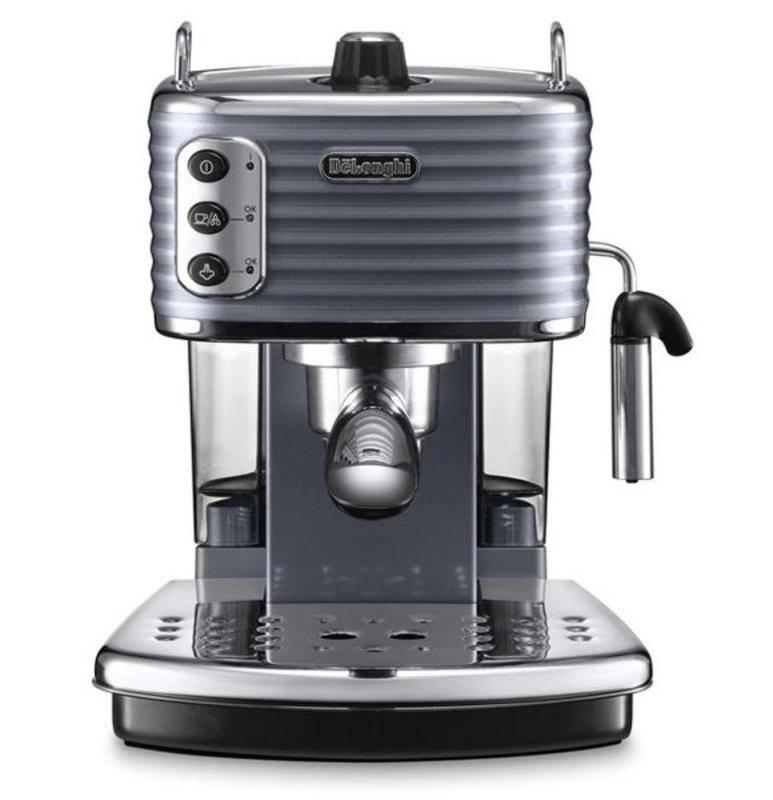 Espresso DeLonghi Scultura ECZ351GY sivé/nerez