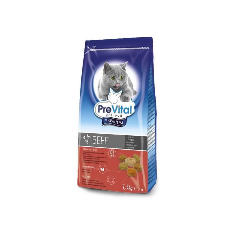 Granule PreVital Premium pro kočky hovězí 1,5 kg