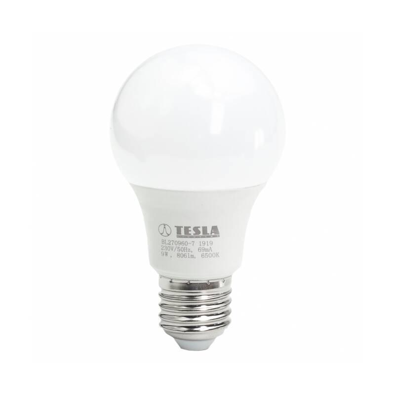 LED žiarovka Tesla klasik, 9W, E27, studená bílá (BL270960-7)