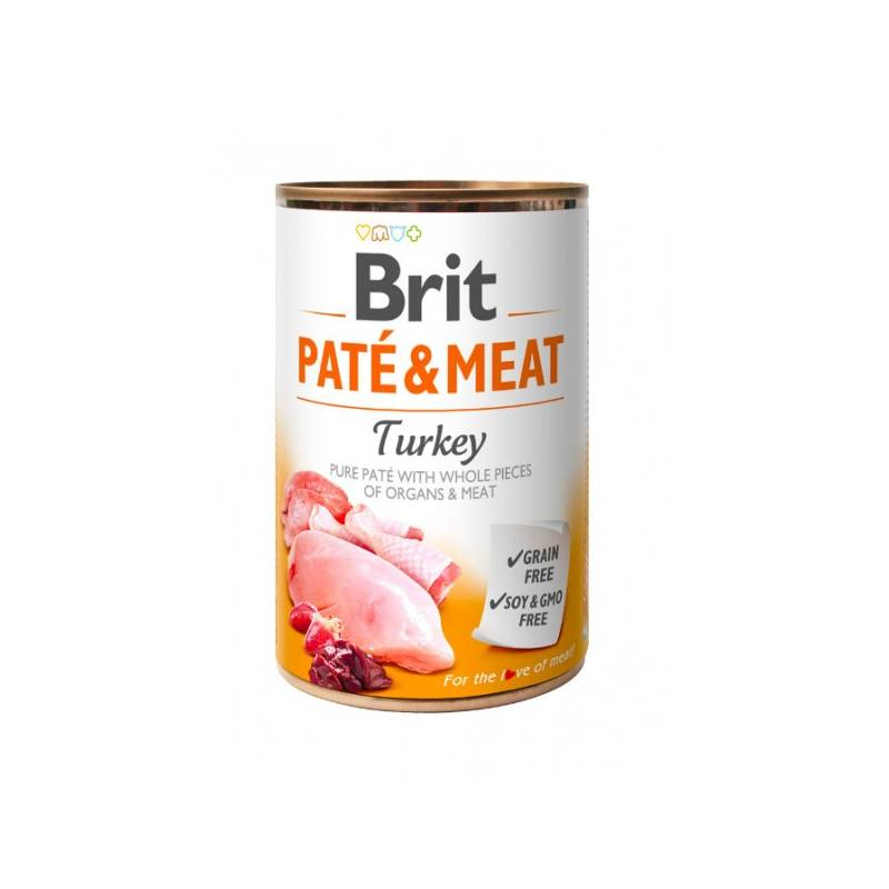 Konzerva Brit Dog Paté & Meat Turkey 400 g