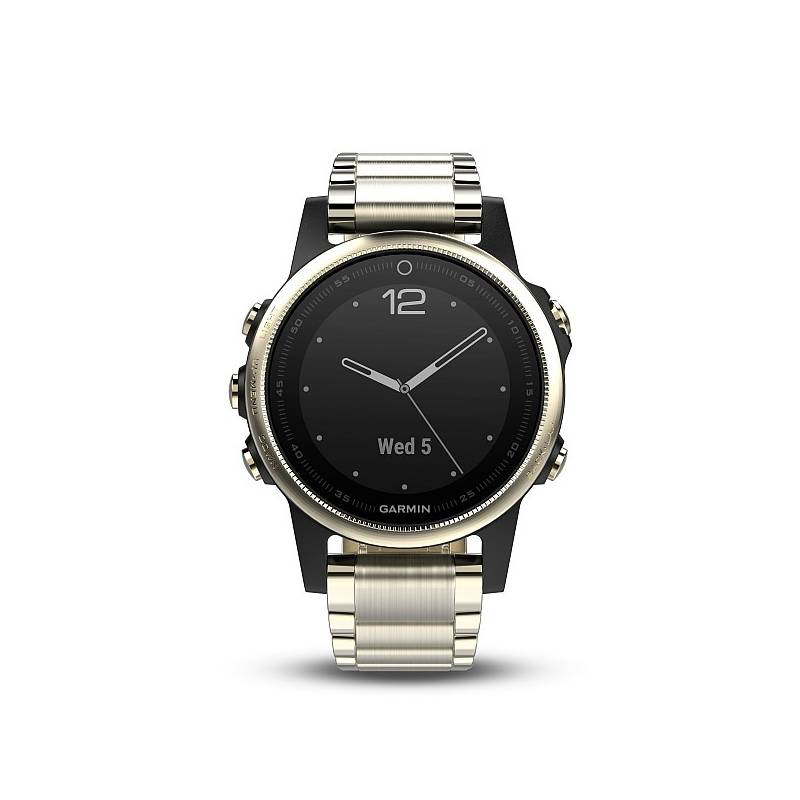 Hodinky Garmin Fenix 5S Sapphire (010-01685-15) zlaté/kovové + Doprava zadarmo