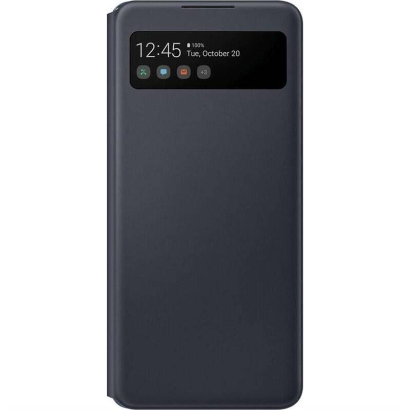 Púzdro na mobil flipové Samsung Smart S-View na Galaxy A42 5G (EF-EA426PBEGEE) čierne