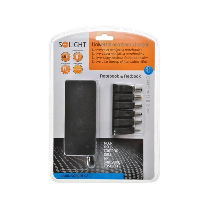 Sieťový adaptér Solight DA32 Univerzální 48W pro notebooky/netbooky, 6 koncovek, automat (268448)