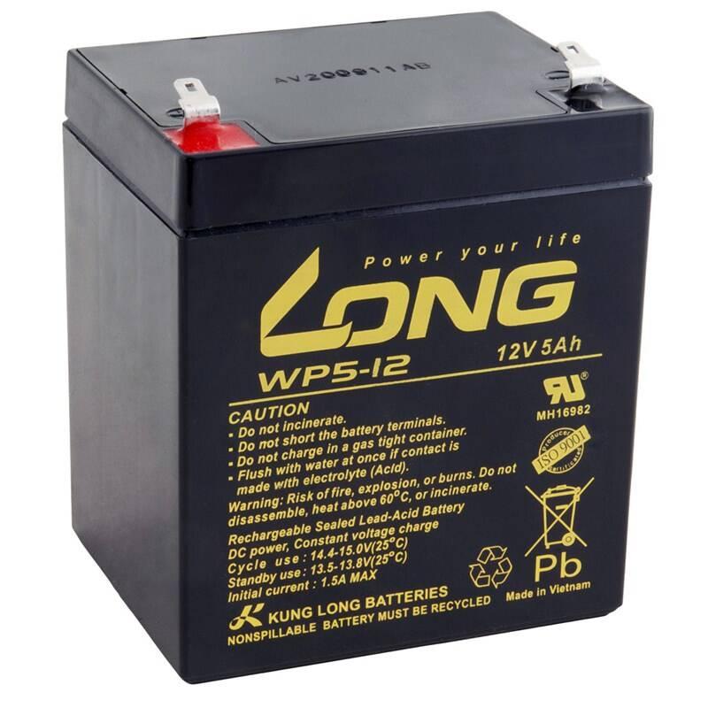 Olovený akumulátor Avacom Long 12V 5Ah F1 (WP5-12 F1) (PBLO-12V005-F1A-1)