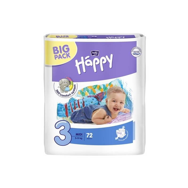 Plienky Bella Baby Happy Midi Big Pack 72 ks