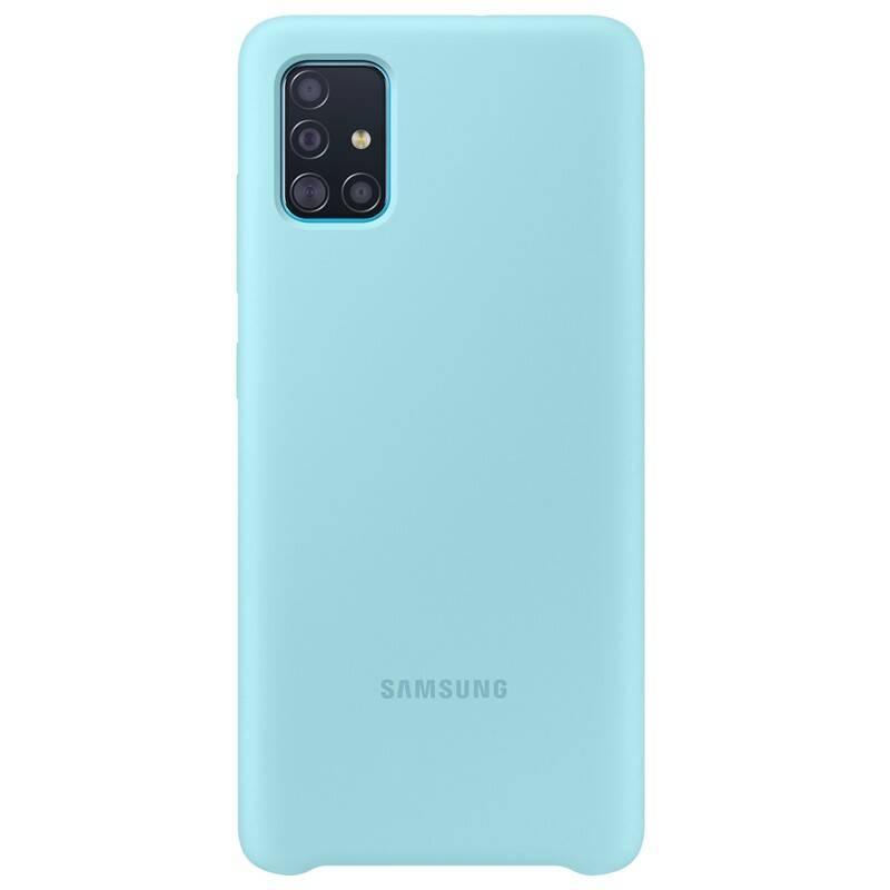 Kryt na mobil Samsung Silicon Cover pro Galaxy A51 (EF-PA515TLEGEU) modrý