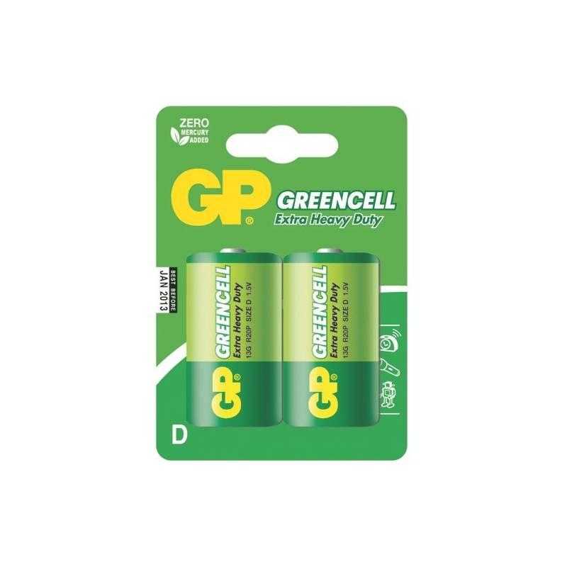 Batéria zinkochloridová GP D, R20, blistr 2ks (GP 13G)