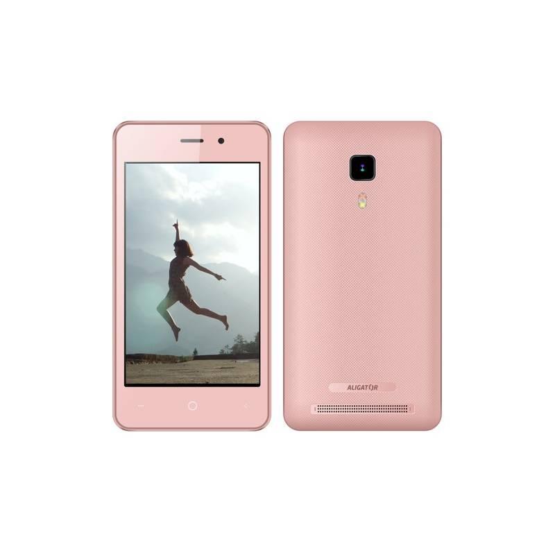 Mobilný telefón Aligator S4080 Dual SIM (AS4080PK) ružový