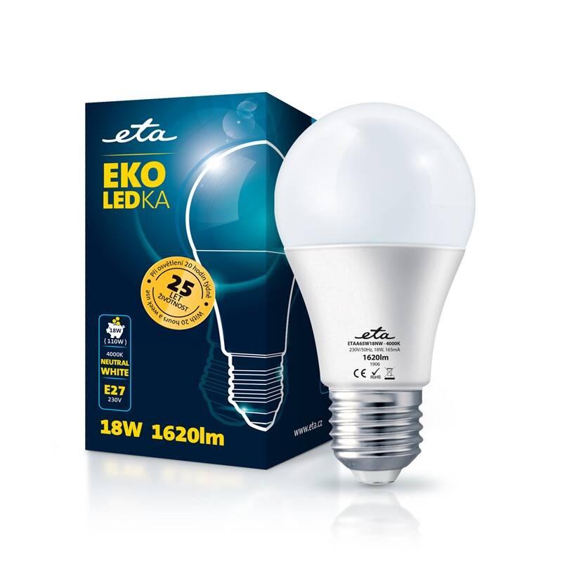 LED žiarovka ETA EKO LEDka klasik 18W, E27, neutrálná biela (A65W18NW)