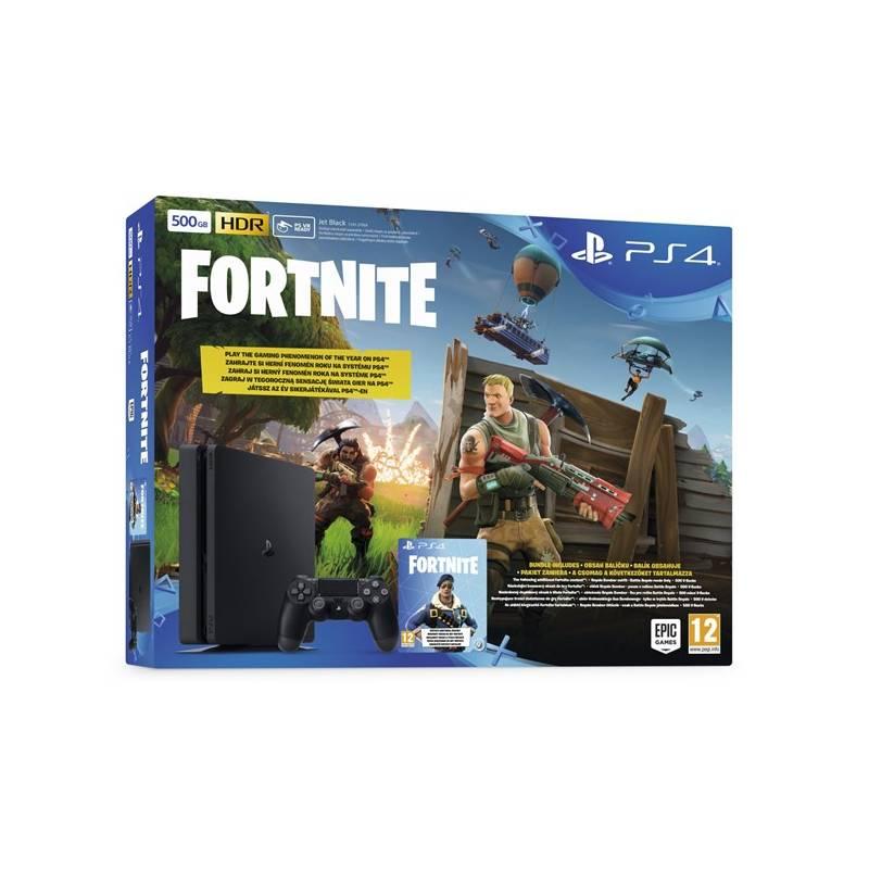 Herná konzola Sony PlayStation 4 SLIM 500GB + hra FORTNITE voucher (PS719722816) čierny