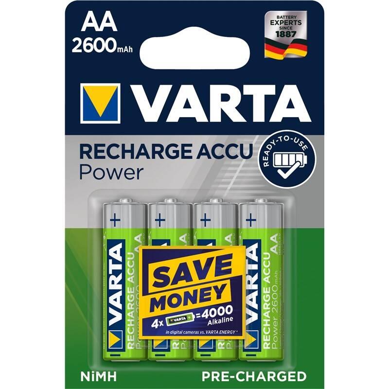 Batéria nabíjacie Varta Power, HR06, AA, 2600mAh, Ni-MH, blistr 4ks (5716101404)