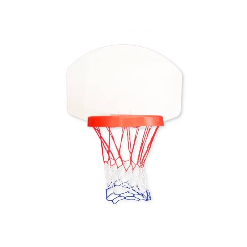 Basketbalový kôš Master s deskou 60 x 42 cm biely/červený