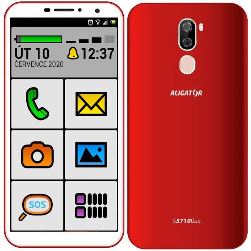 Mobilný telefón Aligator S5710 Senior (AS5710SENRD) červený