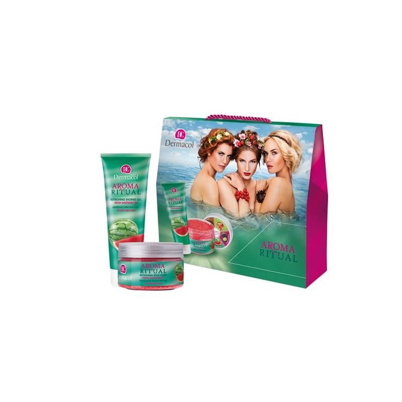 Dárkový balíček Dermacol Aroma Ritual Vodní meloun II (sprchový gel 250 ml + tělový peeling 200 g)