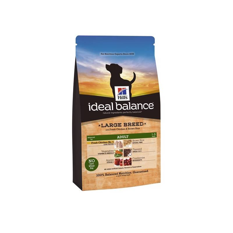 Granule Hill's Ideal Balance Canine Adult Large Breed with Fresh Chicken & Brown Rice 12 kg