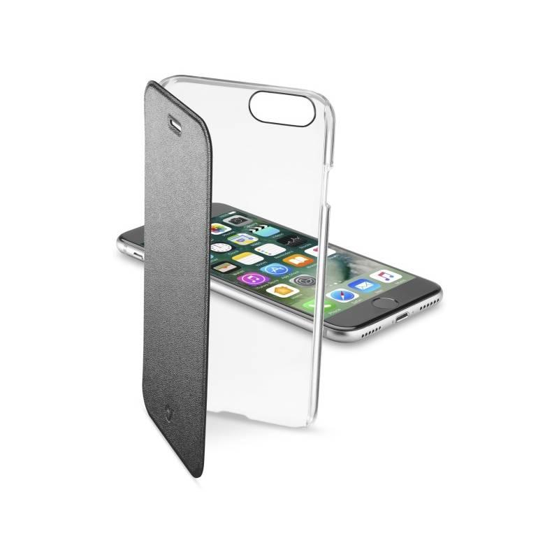 Puzdro na mobil flipové CellularLine Clear Book pro Apple iPhone 8/7 (CLEARBOOKIPH747K) čierne