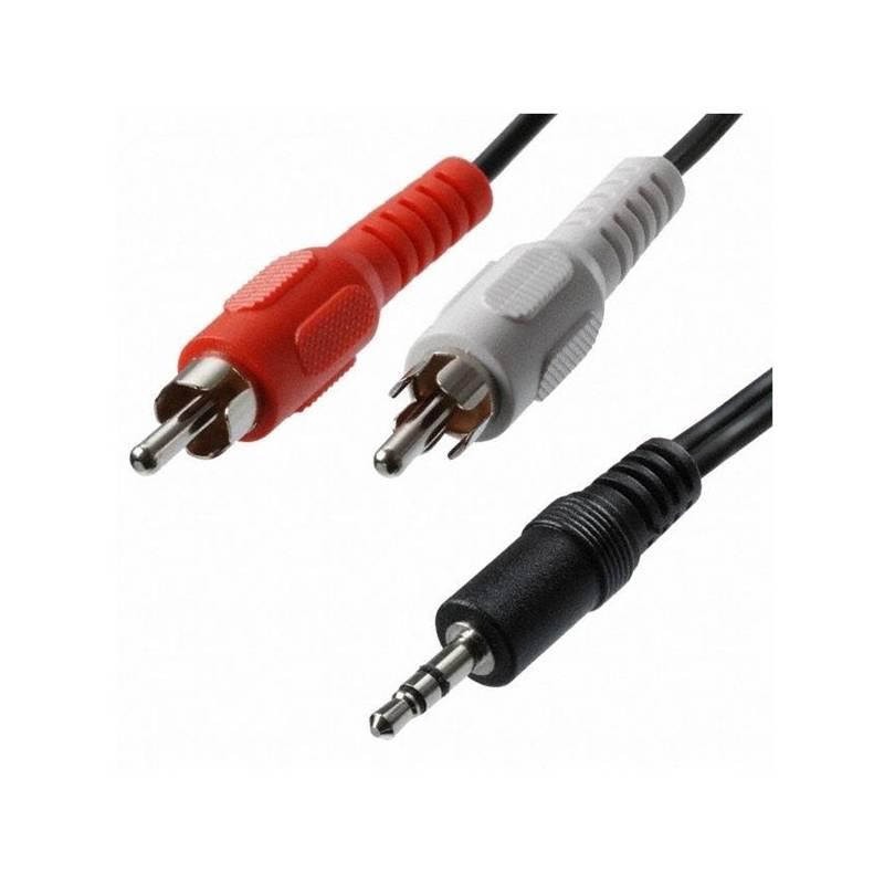 Kábel AQ Audio 3,5 mm na 2x RCA konektor, M/M, 1,2 m (xaqca42012) čierna farba