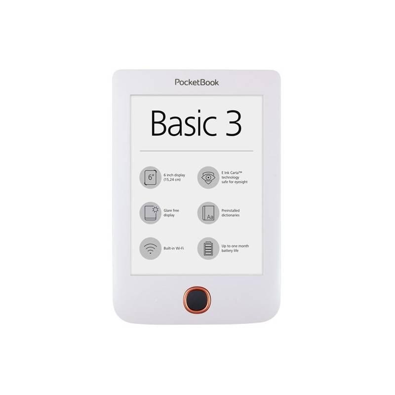 Čítačka kníh Pocket Book 614+ Basic 3 (PB614W-2-D-WW) biela