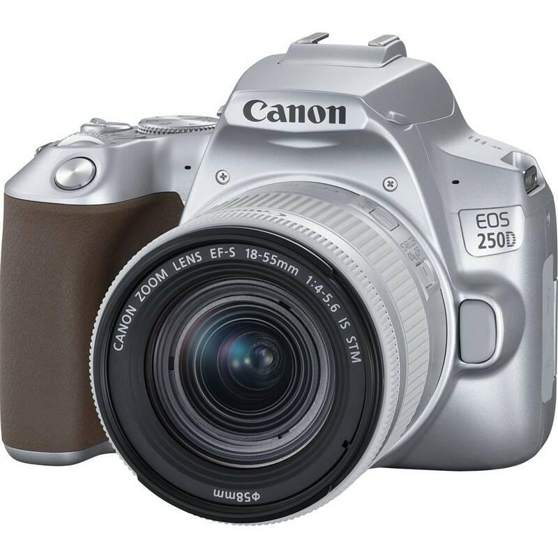 Digitálny fotoaparát Canon EOS 250D + 18-55 IS STM (3461C001) strieborný Pamäťová karta Sandisk Micro SDXC Extreme 64GB, A2, UHS-I U3 (160R/60W) + adapter (SDSQXA2-064G-GN6MA) + Doprava zadarmo