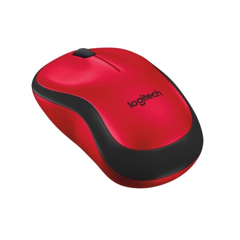 Myš Logitech Wireless Mouse M220 Silent (910-004880) červená