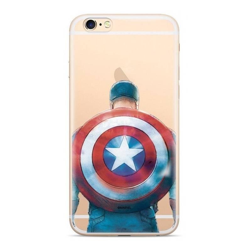 Kryt na mobil Marvel Captain America pro Huawei Y6 2018 (MPCCAPAM302) průhledný