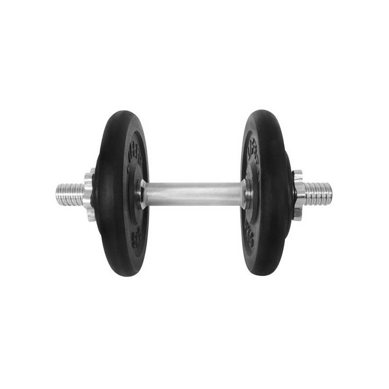 Činka LIFEFIT nakládací jednoruční 14 kg, 4x kotouč - lakované kotouče čierna/kov