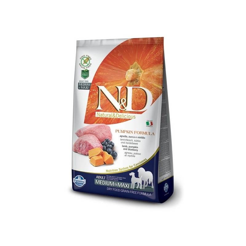 Granuly N&D Grain Free Pumpkin DOG Adult M/L Lamb & Blueberry 12 kg