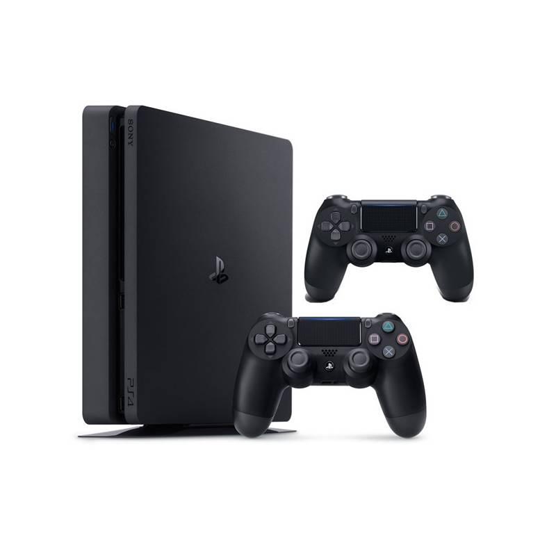 Herná konzola Sony PlayStation 4 SLIM 1TB + DualShock 4 (PS719887164) čierny + Doprava zadarmo