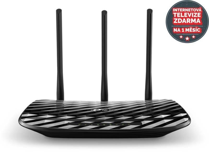 Router TP-Link Archer C2 AC900 + IP TV na 1 měsíc ZDARMA (Archer C2) čierny