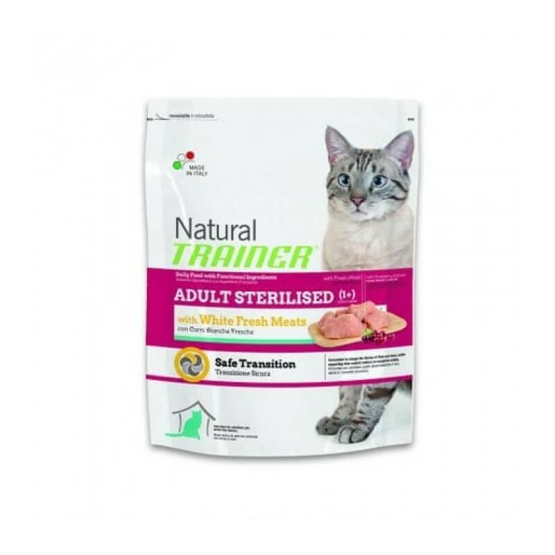 Granuly Trainer Natural Cat Adult Sterilised s drůbežím masem 1,5kg