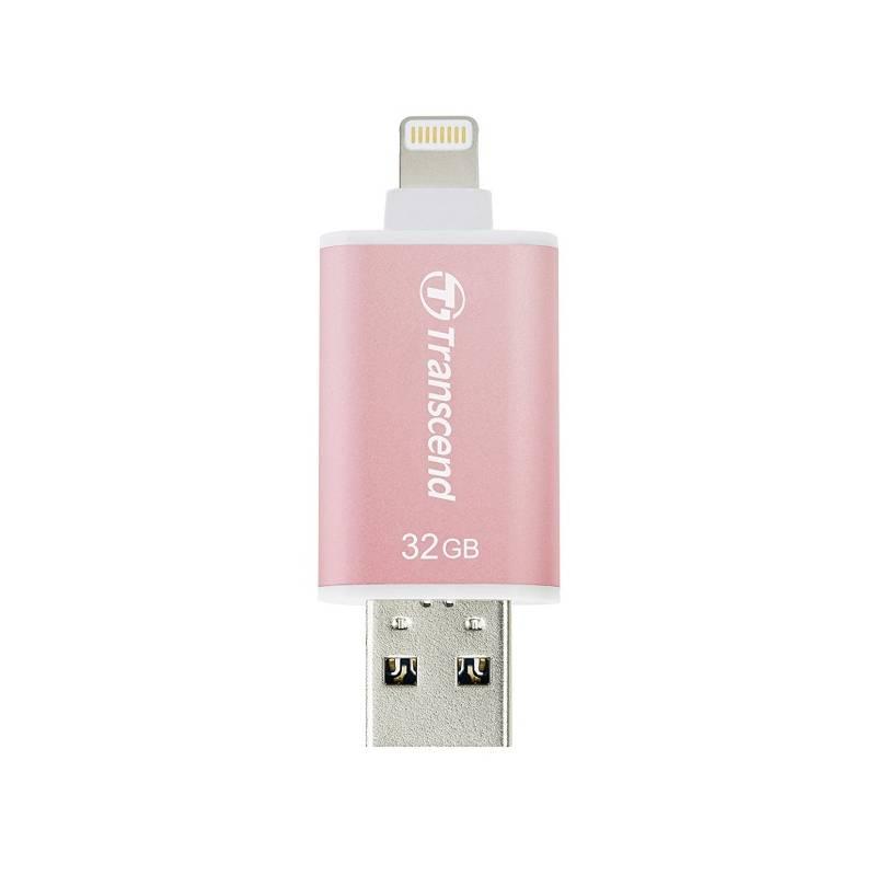 USB flash disk Transcend JetDrive Go 300 32GB (TS32GJDG300R) ružový