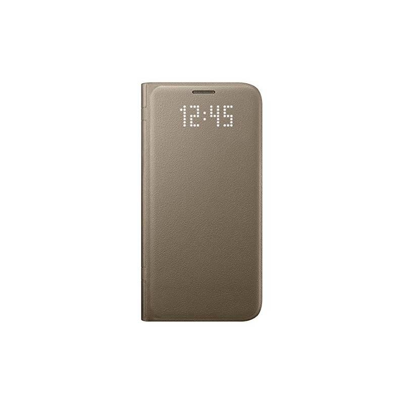 Puzdro na mobil flipové Samsung LED View pro Galaxy S7 (EF-NG930P) (EF-NG930PFEGWW) zlaté