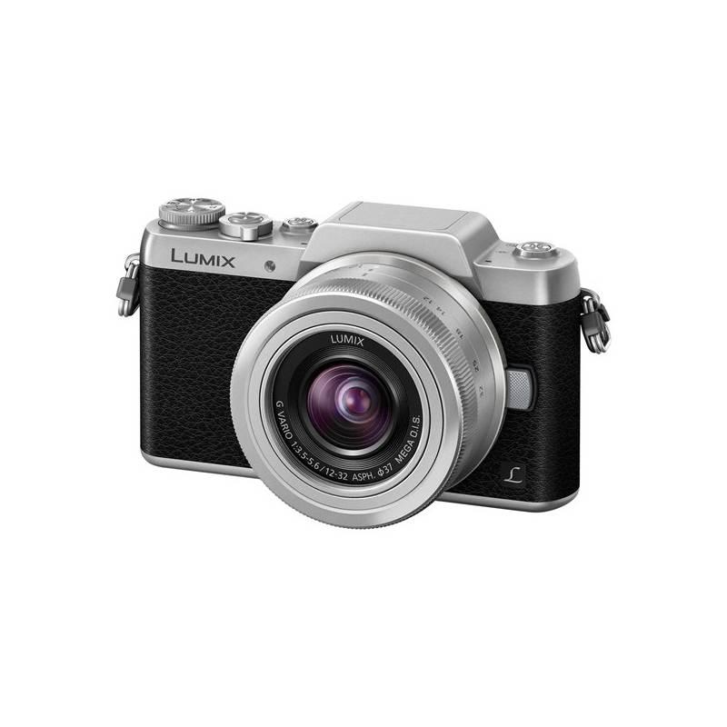 Digitálny fotoaparát Panasonic Lumix DMC-GF7KEG-S + objektiv 12-32 mm čierny/strieborný + Doprava zadarmo