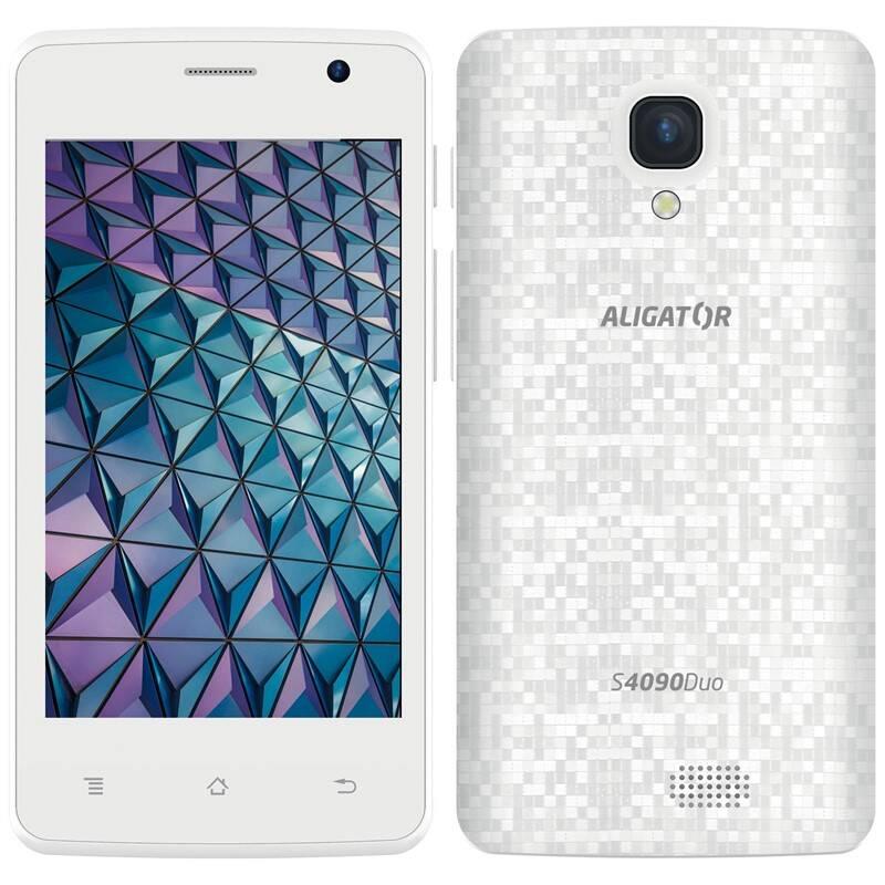 Mobilní telefon Aligator S4090 (AS4090WT) bílý