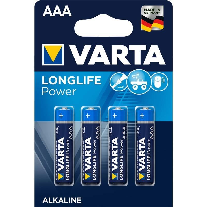 Batéria alkalická Varta Longlife Power AAA, LR03, blistr 4ks (4903121414)