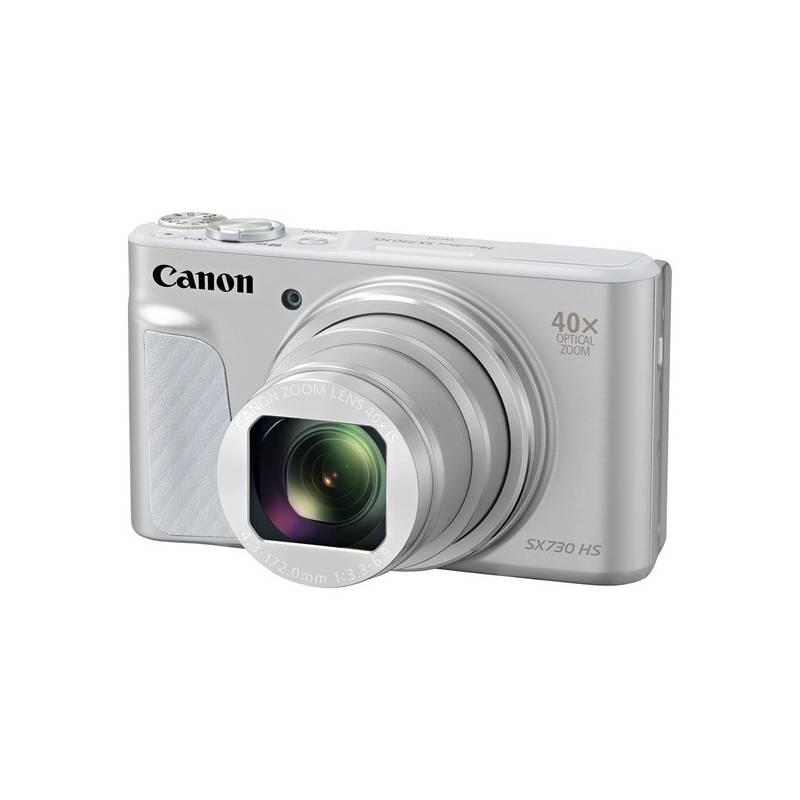 Digitálny fotoaparát Canon SX730HS (1792C002) strieborný Paměťová karta Kingston SDXC 64GB UHS-I U1 (90R/45W) (zdarma) + Doprava zadarmo