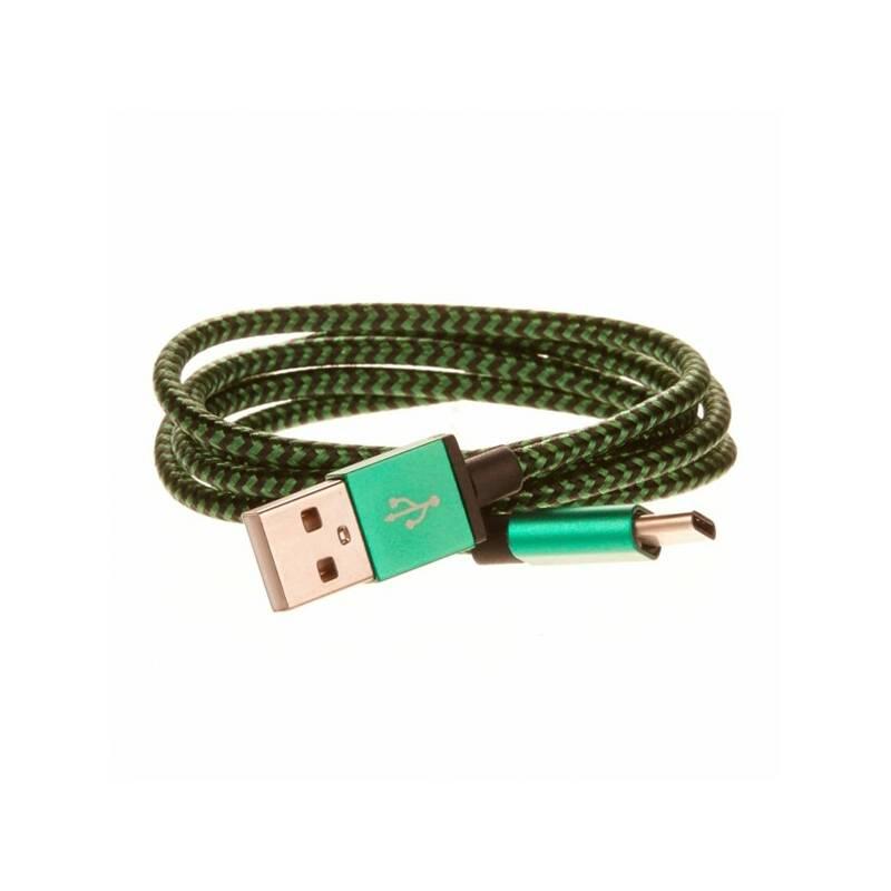 Kábel CellFish USB/USB-C, 1m (PLUSBCKABELGREEN) zelený