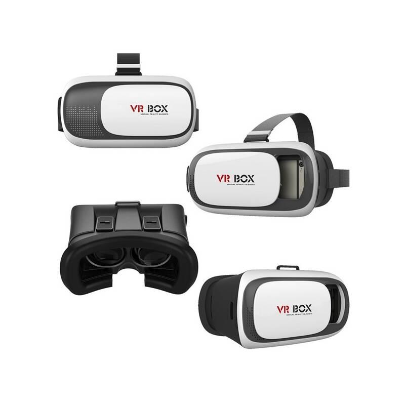 Okuliare pre virtuálnu realitu Aligator VR BOX2 (VRBOX2) čierny/biely
