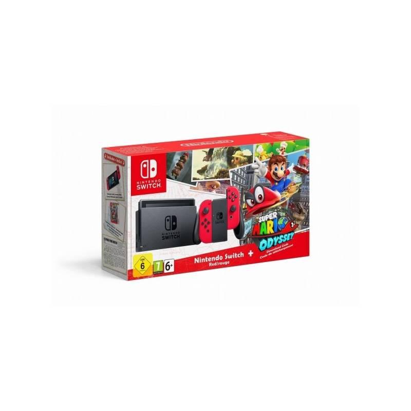 Herná konzola Nintendo Switch s Joy-Con - šedá/ červená + Super Mario Odyssey (NSH020) sivá/červená + Doprava zadarmo