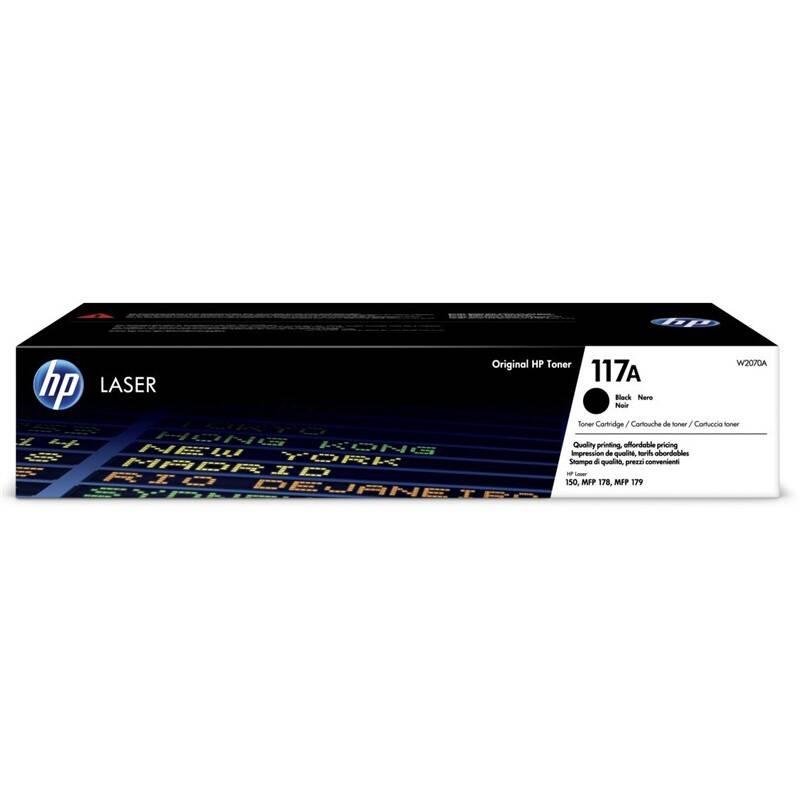 Toner HP 117A, 1000 stran (W2070A) čierny