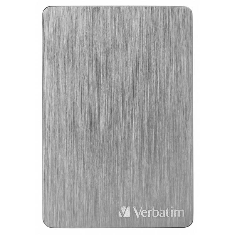 Externý pevný disk Verbatim Store 'n' Go ALU Slim 2TB USB 3.2 (53665) sivý + Doprava zadarmo