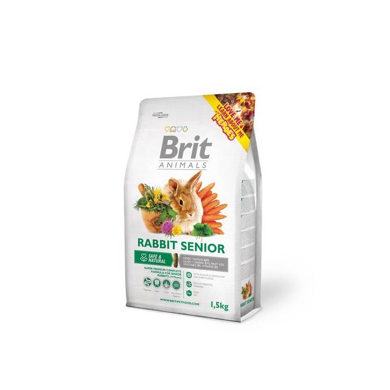 Krmivo Brit Animals Rabbit Senior Complete pro hlodavce 1,5kg