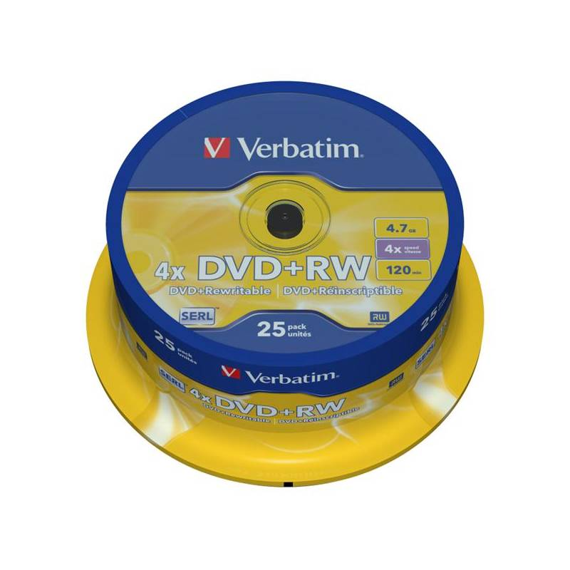 Disk Verbatim DVD+RW 4.7GB, 4x, 25cake (43489)