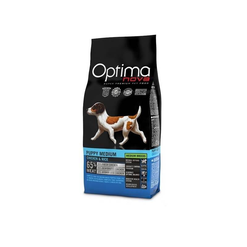Granule Optima nova Puppy medium 12 kg